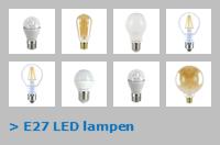 Nav E27 led lampen