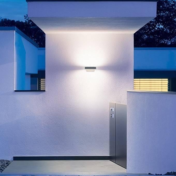 wandlampen steinel l810 led up en downlight antraciet. Black Bedroom Furniture Sets. Home Design Ideas
